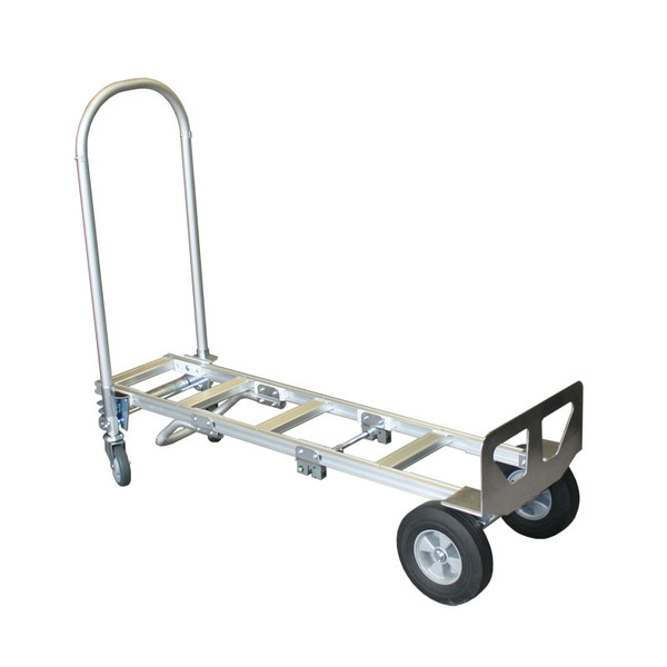 Convertible Aluminum Hand Truck with Hard Rubber Wheels