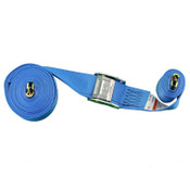 coiled blue spring loaded cambuckle strap 2500 pound capacity